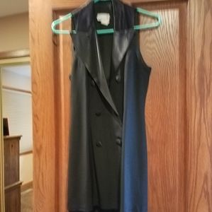 Tuxedo style little black dress
